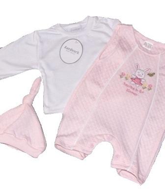 Ensemble bébé pas cher de couleur rose ou blanche