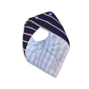 Bavoir bébé bandana réversible avec motif Rayé