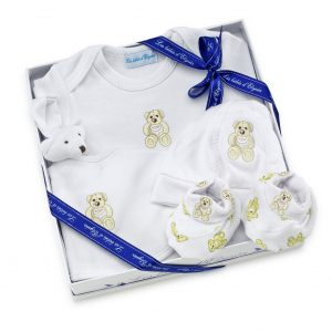 Coffret cadeau de naissance bébé modèle Ourson