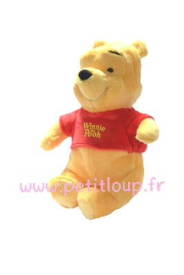 Winnie l'ourson Doudou peluche coeur de 25 cm