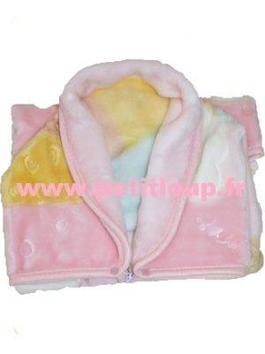 Babysac rose avec motif ourson brun de Copito