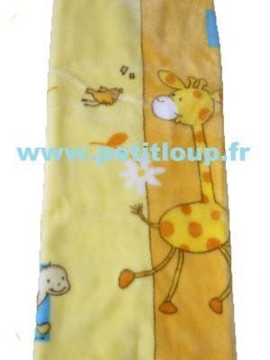 Couverture Baby sac Orange avec Girafe Jaune