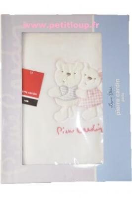 couverture 2 petits oursons P CARDIN bébé