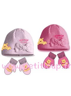 Duo bonnet et gants Winnie de DISNEY pour bébé