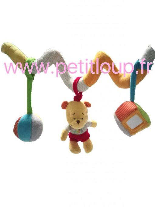 doudou Winnie l'ourson spirale des merveilles de DISNEY BABY