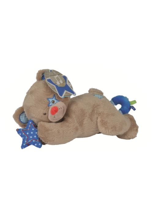 Ours en peluche pour bébé garçon musical avec étoile bleue