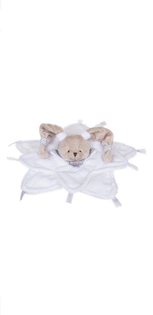 DOUDOU mouchoir ours blanc POUR BEBE