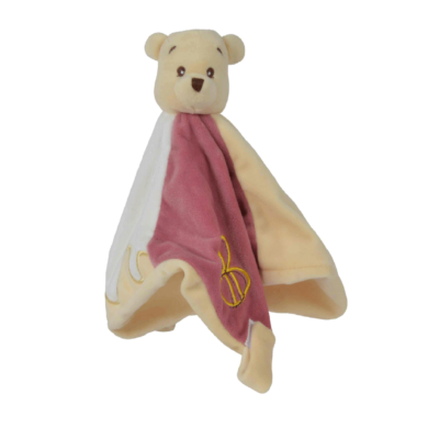 Doudou Chiffon Winnie Floppy de Disney avec attache sucette