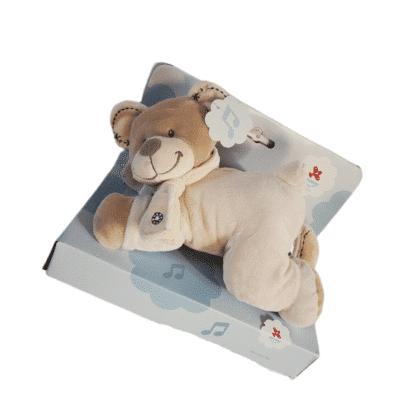 Doudou bébé ourson câlin musical rose en Coffret de naissance