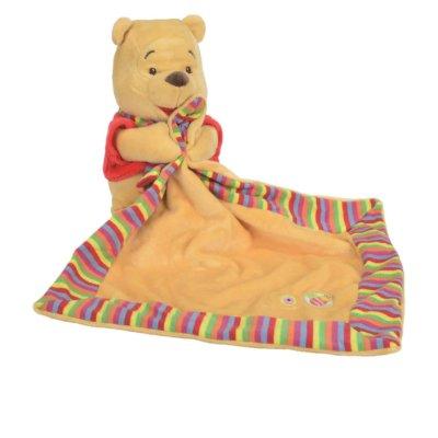 Doudou chiffon DISNEY Winnie l'ourson avec un petit grelot