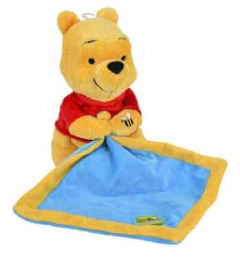 Doudou mouchoir DISNEY peluche Winnie et son pot de miel