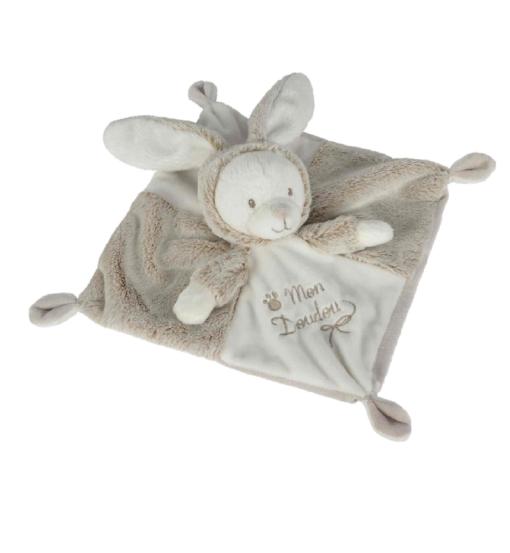 Doudou mouchoir lapin LALINE pour bébé