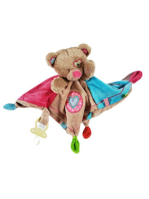 Doudou mouchoir ourson brun pour bébé