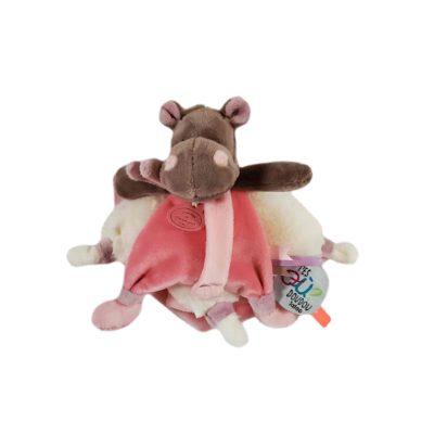 Doudou plat petit hippopotame pour bébé