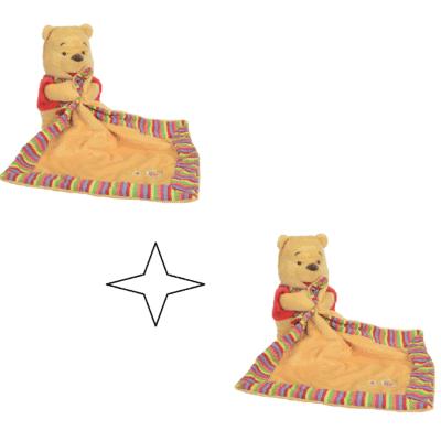 Doudou ourson en peluche Winnie the pooh vendu par 2