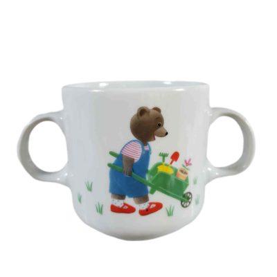 Mug pour enfant petit ours brun en porcelaine